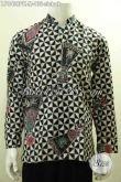 Hem Batik Klasik Lengan Panjang Motif Slobok, Busana Batik Elegan Berkelas Proses Printing, Cocok Untuk Acara Resmi Dan Kondangan [LP9499PK-M]