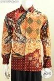 Hem Batik Premium Untuk Lelaki Muda, Baju Batik Halus Lengan Panjang Full Furing Proses Tulis, Bahan Adem Nyaman Dan Elegan Di Pakai Kerja [LP9519TF-M]