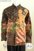 Baju Batik Tulis Pria Lengan Panjang Mewah, Hadir Dengan Motif Klasik Berkelas Daleman Full Furing Harga 610K [LP9523TF-L]