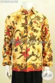 Batik Kemeja Pria Klasik Motif Berkelas Proses Printng, Hem Batik Halus Untuk Kerja Dan Rapat Hanya 100 Ribuan Saja [LP9686P-M]
