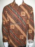 Jual Hem Batik Pria Klasik Modern Tangan Panjang Untuk Kondangan Dan Acara Resmi [LP970BT-XL]