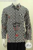 Hem Batik Motif Slobok, Kemeja Batik Lengan Panjang Size S Untuk pria Muda Proses Printing Harga 135K [LP9748P-S]