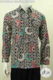 Hem Batik Klasik Printing Motif Suri Kencono, Baju Batik Solo Elegan Lengan Panjang Berkelas, Tampilm Gagah Berwibawa [LP9752P-M]