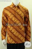 Batik Hem Klasik Proses Kombinasi Tulis, Kemeja Batik Elegan Motif Parang Lengan Panjang Non Furing, Cocok Untuk Acara Resmi Harga 148K [LP9763BT-XL]