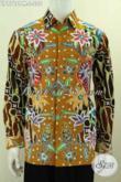 Kemeja Batik ELegan Mewah Motif Kombinasi, Baju Batik Modern Klasik Proses Kombinasi Tulis Bahan Adem Dan Tidak Luntur Model Lengan Panjang Harga 200K [LP9768PM-L]