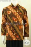 Agen Pakaian Batik Online Terlengkap, Jual Busana Batik ELegan Formal Berkelas Proses Cap Tulis Lengan Panjang Pake Furing 300 Ribuan Saja [LP9822CTF-S]