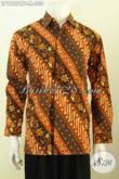 Hem Batik Pris Size M, Kemeja Batik Lengan Panjang Model 2020 Motif Bagus Kekinian Proses Cap Tulis Daleman Full Furing [LP9825CTF-M]