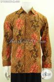 Hem Batik Mewah Jawa Tengah, Busana Batik Premium Cap Tulis Model Bagus Motif Klasi, Penampilan Pria Lebih Gagah Berwibawa [LP9830CTF-M]