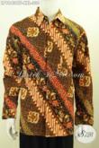 Hem Batik Klasik Big Size, Busana Batik Solo Elegan Terkini, Baju Batik Istimewa Untuk Pria Gemuk Model Lengan Panjang Full Furing 300 Ribuan Saja [LP9843CTF-XXL]