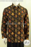 Baju Batik Lengan Panjang Pria Model Terbaru 2017, Busana Batik Klasik Motif Kembang Kanthil Nan Mewah Proses Printing Harga 148K [LP9901P-XL]