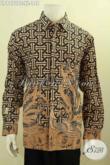 Model Baju Batik Pria Lengan Panjang Terbaru, Hem Batik Solo Istimewa Motif Mewah Kombinasi Tulis Untuk Penampilan Lebih Gagah Dan Berkelas [LP9970BT-XL]