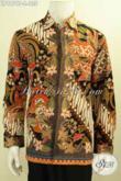 Sedia Pakaian Batik Solo Lengan Panjang, Baju Batik Istimewa Bahan Adem Kwalitas Bagus Motif Trend Masa Kini Proses Printing Harga 135K [LP9979P-L]