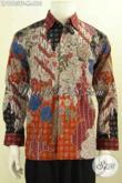 Produk Baju Batik Solo Premium Model Lengan Panjang Mewah Daleman Pakai Furing, Busana Batik Tulis Istimewa Bikin Penampilan Gagah Berkelas [LP9983TF-M]