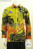 Jual Kemeja Batik Solo Online, Hem Batik Mewah Model Lengan Panjang Motif Terkini Proses Tulis, Cocok Buat Kondangan Dan Rapat Daleman Pake Furing [LP9989TF-M]