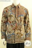 Batik Kemeja Lengan Panjang Motif Klasik, Pakaian Batik Solo Halus Nan Istimewa Proses Tulis Bahan Adem Full Furing, Tampil Gagah Istimewa [LP9994TF-L]