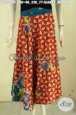 Produk Rok Batik Model 2020 Lilit Dan Bertali, Bawahan Batik Elegan Motif Klasik Slobok Mawar Proses Printing Hanya 140K [RKL8042P-All Size]