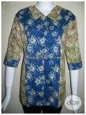 Baju BAtik Cantik Motif Dua Warna,Trend Model Baju Kerja Terkini [BLS138]