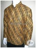 Baju Kemeja Batik Pria Lengan Panjang Motif Parang, Hem Batik Lelaki Solo [LP186P-L]
